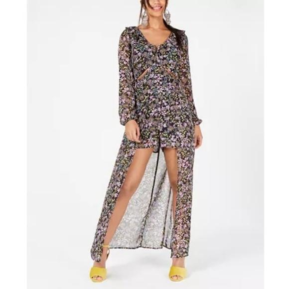 Material Girl Dresses & Skirts - Material girl floral Cutout walk through dress NWT
